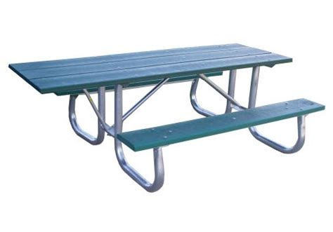 galvanized picnic table frame galvanized frame picnic table 6 ada commercial