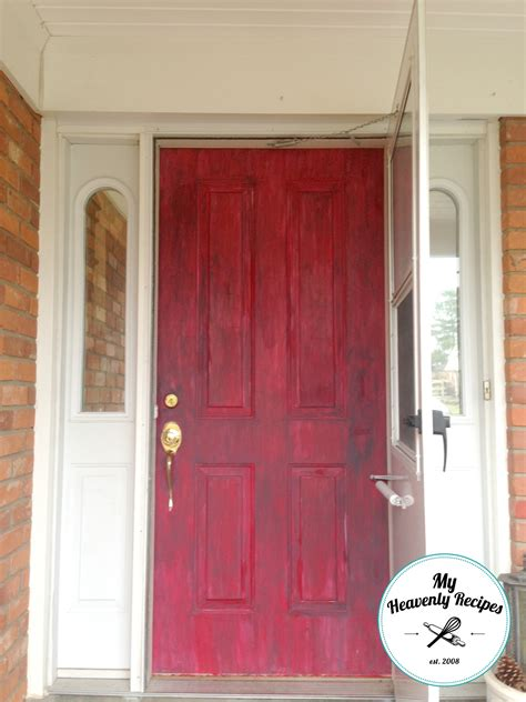 how to paint front door painted front door with chalk paint my heavenly recipes