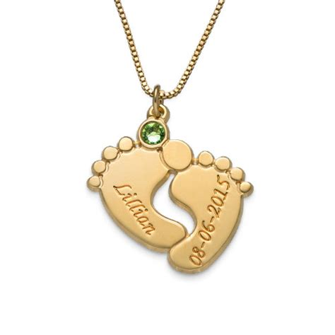 baby necklace personalized baby necklace with gold plating