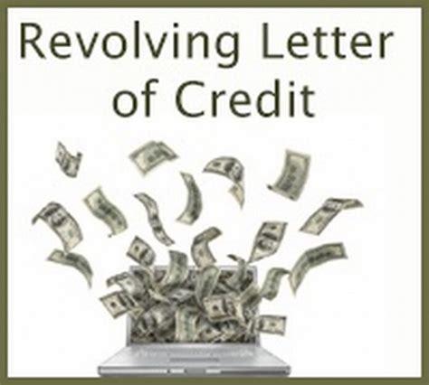 Letter Of Credit Revolving Credit Letter