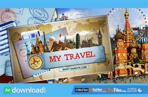after effects free travel templates passport archives free after effects template