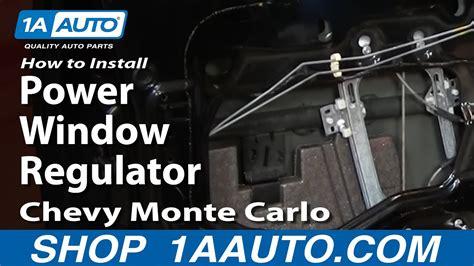 How To Replace Window Regulators 00 07 Chevy Monte Carlo