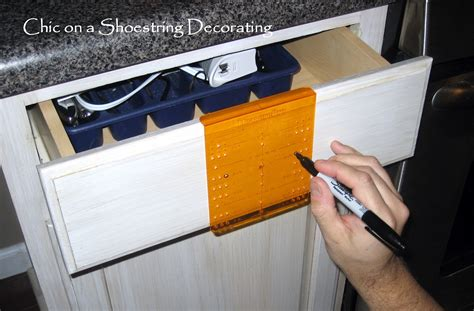 How To Install Knobs On Kitchen Cabinets by Chic On A Shoestring Decorating How To Change Your
