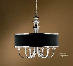 black shade chandelier distinctive black shade tuxedo 6 lt single shade