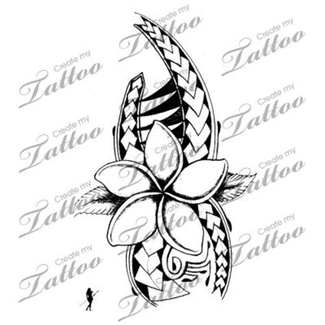 turtle n hibiscus flowers tattoo design