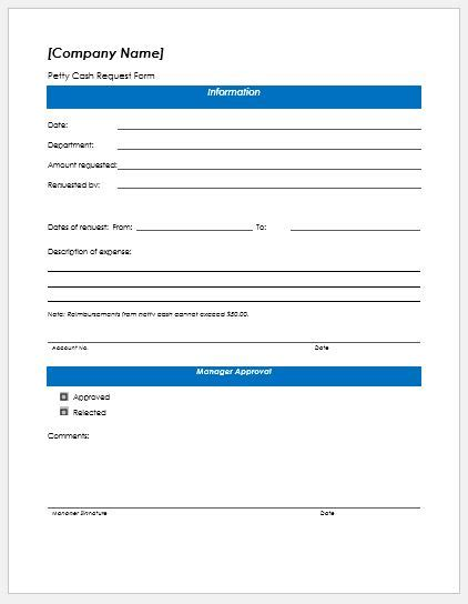 petty request form petty request form templates formal word templates