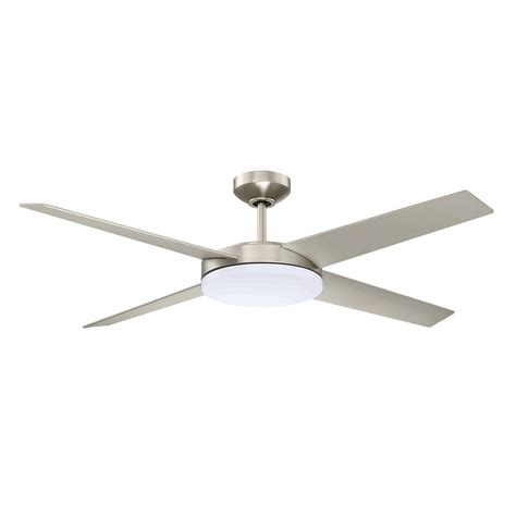 dc motor ceiling fan designer s choice collection lopro 52 in led satin nickel