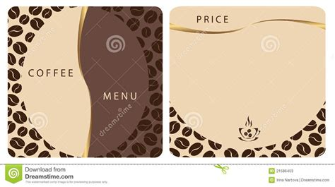 coffee shop menu template free templates coffee shop menu stock photos image 21586453
