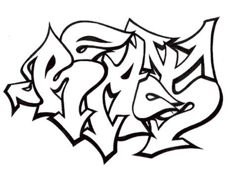 Graffitis Para Colorear Dibujos Online