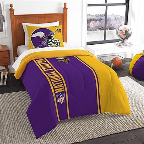vikings comforter nfl minnesota vikings embroidered comforter set bed bath