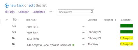 color code list items in sharepoint 2013 or office 365 list view add task status indicators in sharepoint 2013 using js link