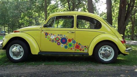 volkswagen beetle flower beetle flower power bug vw vw flower power