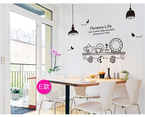 dining room decals fashionable black coffee wall stickers decals chef kitchen