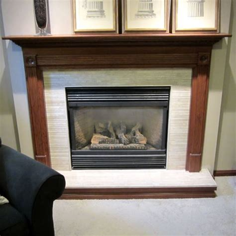 Tiled Fireplace Insert by True Tile Troy And Dayton Ohio Area Tile Installation