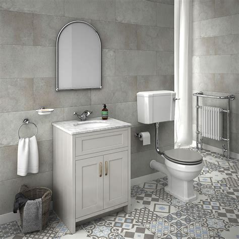 bathroom wallpaper uk only chatsworth grey white marble 4 piece low level bathroom