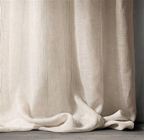restoration hardware belgian linen drapes rh pinstripe sheer belgian linen drapery available in