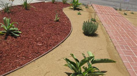 mulch and dg installation desert landscape ideas yelp