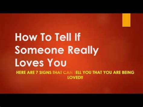 how do you know if someone is in love valley morning star how to tell if someone really loves you youtube