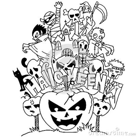 doodle ghost ghost doodle stock vector image 73355526