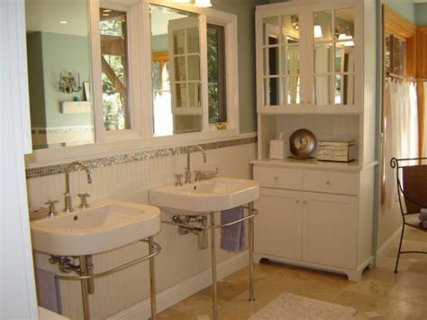home remodeling master bathroom bead board wainscoting before after a small bathroom gets a big makeover