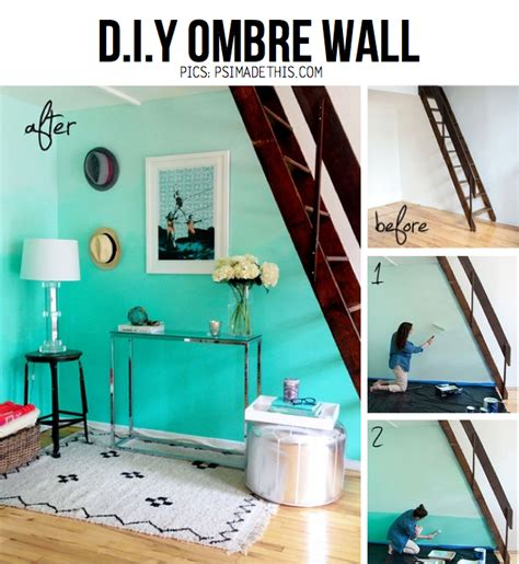 ombre walls tutorial home becomes her everything ombre