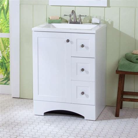 49x22 Bathroom Vanity Top Glacier Bay Lancaster 24 In W X 19 In D Bath Vanity And Vanity Top In White Me Encantas