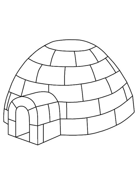 Coloring Page Igloo by Igloo 50 Buildings And Architecture Printable