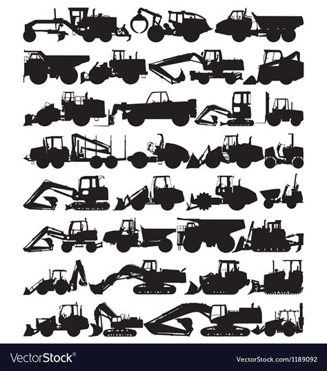 Construction Plan Symbols Construction Equipment Royalty Free Vector Image
