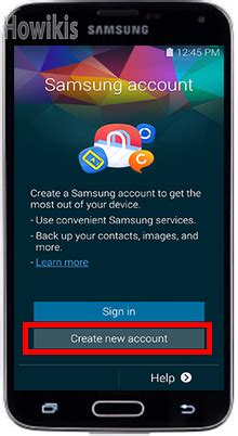 2 Samsung Accounts Create A Samsung Account On Samsung Galaxy S5 Visihow