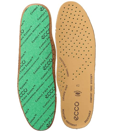 Ecco Comfort Fiber System Leather Insole At Zappos Com
