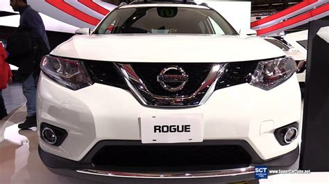 nissan rogue interior 2016 2016 nissan rogue sl exterior and interior walkaround