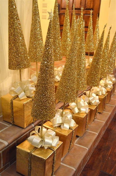 home made decoration pieces diy golden christmas tree centerpieces a tutorial