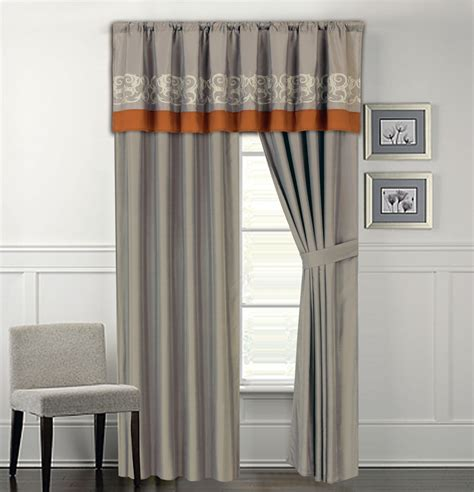 andersons curtains anderson embroidered curtain set gray