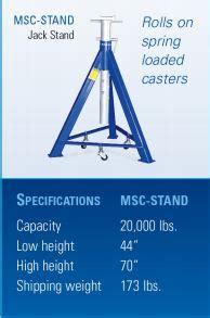 ideal msc 18k b single mobile column lift system 72 000 lbs capacity set of 4