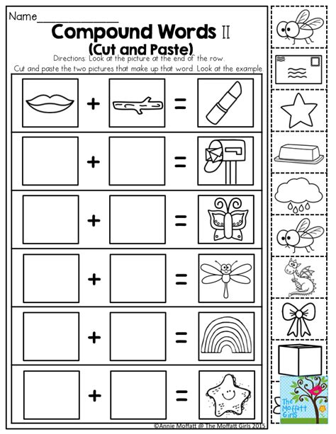 printable compound word matching games compound words such a fun activity for kindergarten