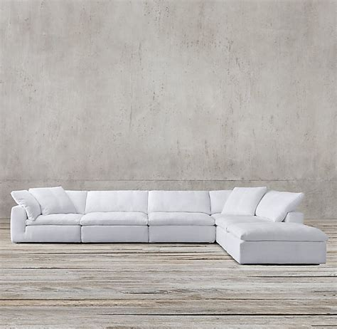 cloud 2 sectional cloud sectional sofa cloud ii 6 pc sectional furniture row