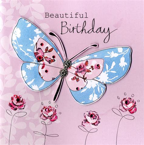 card butterfly embellished beautiful butterfly birthday card cards