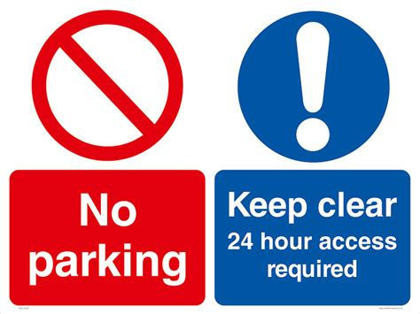 No Keep no parking keep clear 24 hour access required
