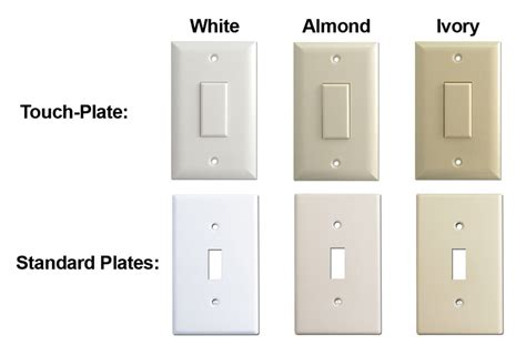 light switch color options touch plate lighting help guides wiring diagrams low