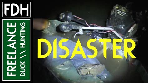 duck boat sank youtube duck hunting disaster we sank our boat youtube
