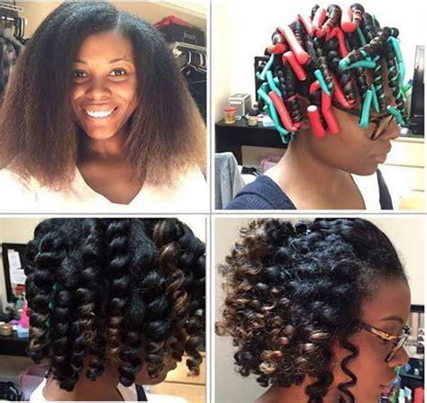 black hair with jumbo flexi rods flexi rod set on blow dried hair achieve similar style