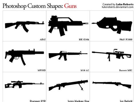 photoshop pattern gun all the photoshop custom shapes you ll need to download
