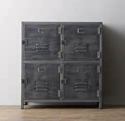 vintage locker 4 door grey cabinet