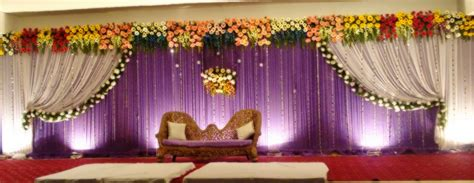 Marriage Stage Flower Decoration by Wedding Stage Decorators Birthday Event Organizers In