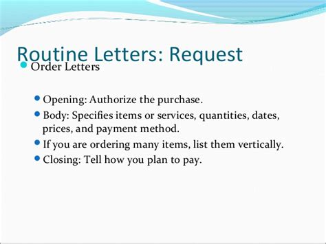 Routine Request Letter Exle Routine Letters And Will Messages
