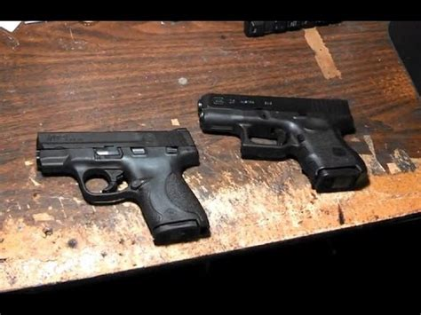 s w 26 review smith and wesson m p shield vs glock 26