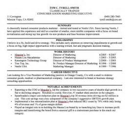 Resume Summary Statement Consultant Exles Of Resume Summary Statements Best Resume Exle