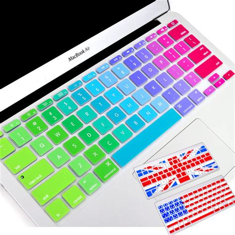 colorful keyboard silicone colorful keyboard stickers for macbook keyboard