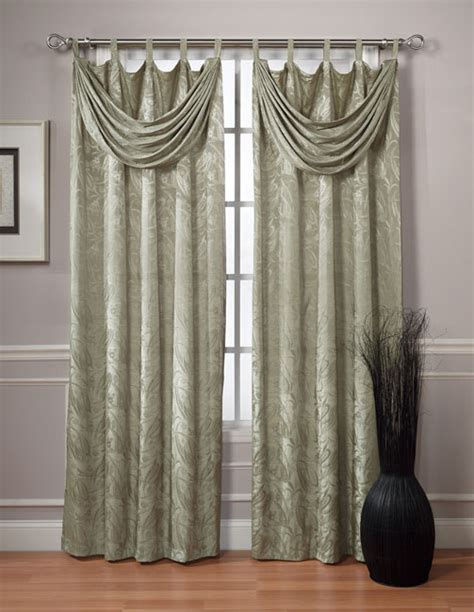 curtains with valance attached traynor 84 inch tab top curtains with attached valance