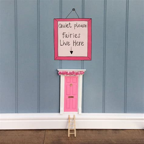 fairy doors for bedroom pink fairy door bedroom gift set by magical little world